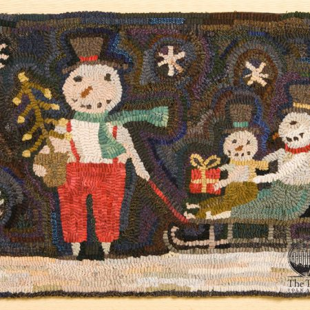 Sleighride rug designed and hooked by Tish Bachleda