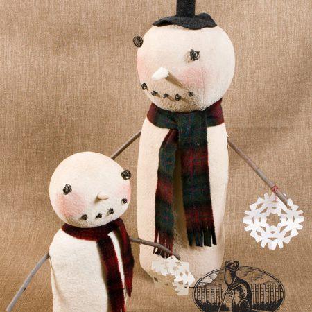 Snowflake Snowman folk art design by Tish Bachleda