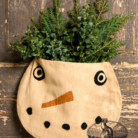 Snowman pocket bag designed by Tish Bachleda
