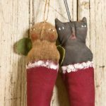 Sock Angel and Kitten Ornaments designed by Tish Bachleda
