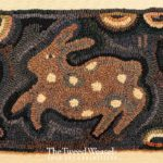 Spring Spotted Rabbit Hooked Rug Design by Tish Bachleda