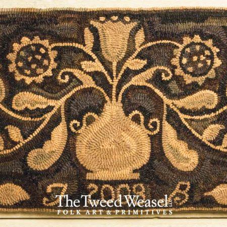 Sunflower Floral Hooked rug Design by Tish Bachleda