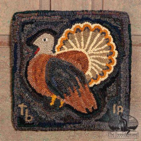 Turkey Hooked Rug Design by Tish Bachleda