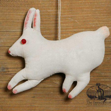 Vintage White Rabbit Ornament Design by Tish Bachleda