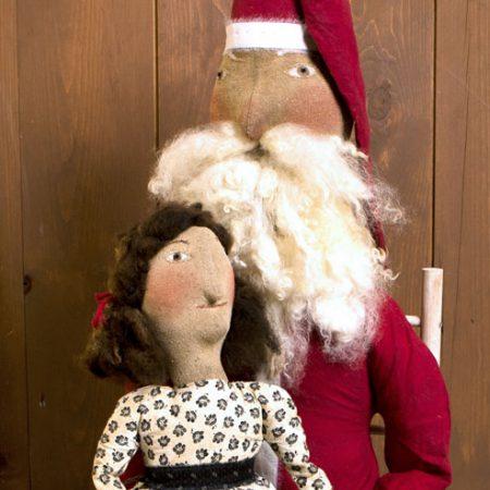 Visit with Santa folk art design by Tish Bachleda