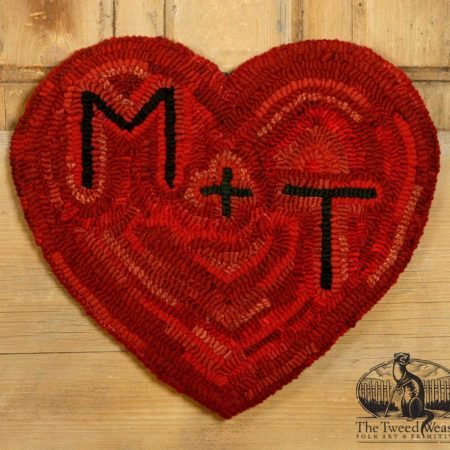 You and Me Heart Keepsake Rug Design by Tish Bachleda