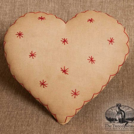 Zig-zag Starburst Heart Pillow design by Tish Bachleda